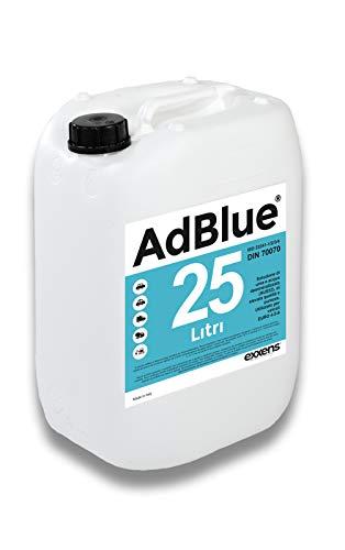 25LT AdBlue Additivo Gas di Scarico Motori Diesel - Made in Italy Conforme ISO 22241