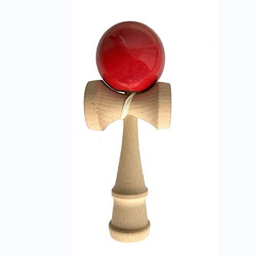 Kendama Jouet en Bois Japonais Compétition Jouet d'Habileté Balle Bling pour Enfants - Rouge, /