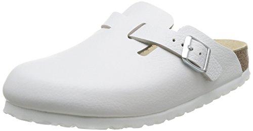 Birkenstock Classic Boston Leder Unisex-Erwachsene Clogs, Weiß, 38 EU