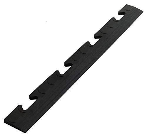 Auffahrt Randleiste Noppen schwarz Buchse für Gewerbeboden PVC Fliesen Garagenboden Industrieboden Klick-Verlegung
