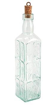 Bormioli Rocco Country Home Fiori Bottle 18-1/2-Ounce Clear