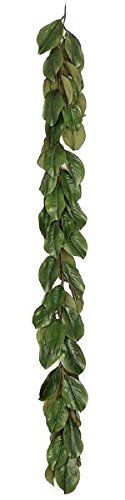 JMB Home and Design Magnolia Garland Heavy Realistic Color Leaves (6 FT)
