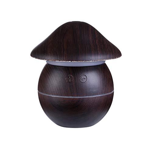 Dingong Humidificateur,Aspect de champignon Portable mini-Home USB humidificateur purificateur atomiseur purificateur d'air diffuseur (Noir)