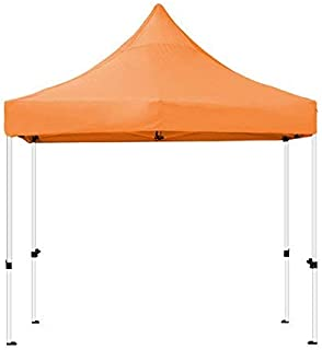 Goutime 10 x 10 Feet Pop Up Canopy, Waterproof Ez Up Canopy Tent with A Wheeled Bag, Basic Commercial Level, Orange
