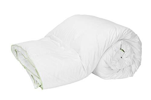 Pikolin Home - Couette de 100% de duvet d´oie blanche antiallergique, housse en 100% coton, 280x240cm-Lit 200.