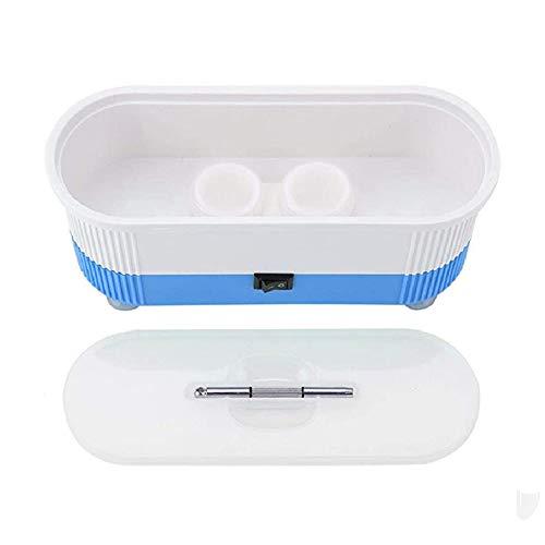 Mini Ultraschall Reiniger, Brillen Reinigungsgerät, Multifunktions Reinigungsmaschine, Ultrasonic Cleaner für Brillen Schmuck Wasserdicht Uhren (Kostenlose 2 Paar Adhesive Nasenpads)