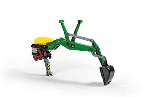 Rolly Toys rollyBackhoe John Deere (Heckbagger für RollyToys Fahrzeuge, für Kinder von 2,5 bis 10 Jahre, Aufsitzversion) 409358