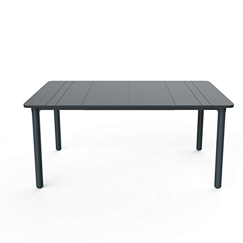 resol Mesa de jardín Exterior Rectangular Noa 160x90 - Color Gris Oscuro