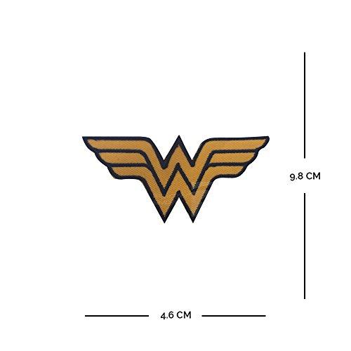 Wonder Mujer Logo bordado hierro encendido/sew en el logotipo parche DC Comics accenter vestido