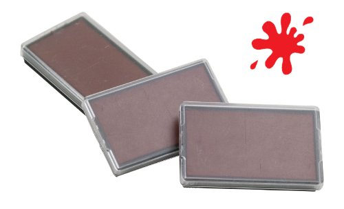 Shiny PET-844 Stamp Replacement Pads - 3 Pack - Red