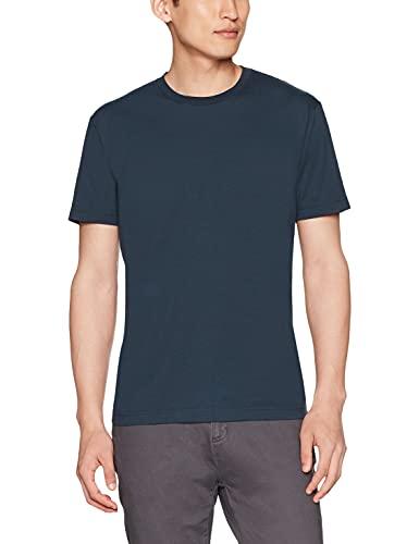 Goodthreads Men's Short-Sleeve Crewneck Cotton T-Shirt, Washed Navy, Large