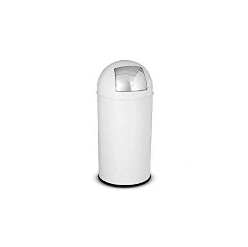 Stilcasa F460001 Push-Papierkorb aus Metall, 40l