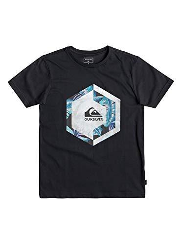 Quiksilver Jungen Heat Stroke T-shirt, Schwarz, XS/8