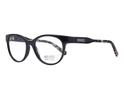 Kenzo Brille (KZ-2246 02) Acetate Kunststoff glänzend schwarz - marmor stil braun