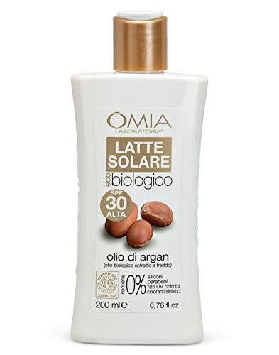 Omia, Latte Solare Eco Bio SPF 30, Alta Protezione, 200 ml