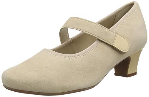 Hotter Charmaine Wide Fit, Zapatos de Vestir par Uniforme Mujer, Suero de La Leche, 39 EU