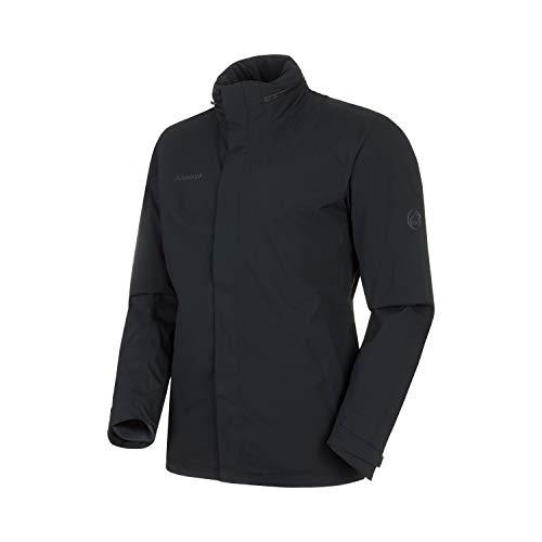 Mammut Herren 3in1 Trovat Hooded Hardshell-Jacke mit Kapuze, Black-Phantom, L
