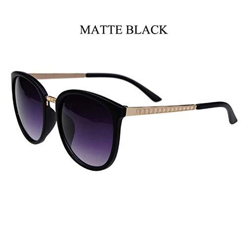 ZLYZ Lentes de Sol para Gafas de Sol Redondas de Gran tamaño Mujeres Diseñador de la Marca Anteojos…