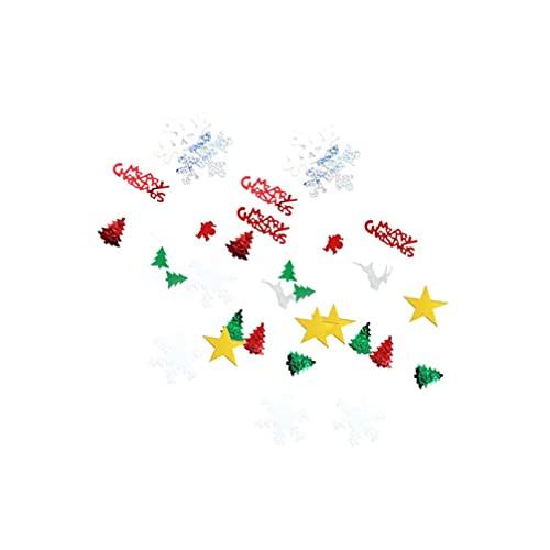 LIXBD Confeti de Navidad con lentejuelas de copo de nieve, confeti, mesa de confeti para decoración de fiestas de Navidad, 30 g