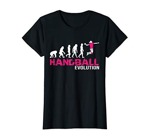 Damen Evolution Handballerin Geschenk Handball Handballspielerin T-Shirt