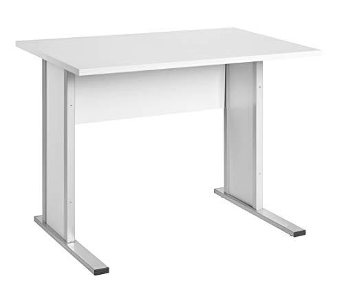 Möbelpartner Manni Schreibtisch, lichtgrau, ca. 90,0 x 65,0 x 72,2 cm