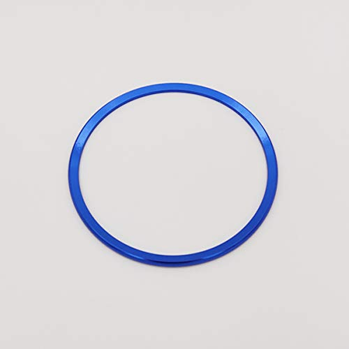 Aluminum Alloy Car Steering Wheel Decoration Ring Sticker Decals Car Styling for Audi A3 A4L Q3 Q5 A5 A6L (Big (diameter :inner 92mm,outer 102mm), Blue)