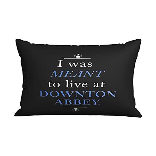 Down-ton Abb-ey - Fundas de almohada de microfibra para sofás, camas y sillas y cremalleras ocultas de 50 x 70 cm