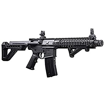 DPMS Full Auto SBR CO2-Powered BB Air Rifle with Dual Action Capability Black DSBR