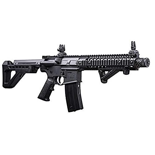 DPMS Vollautomatisches SBR CO2-betriebenes BB-Luftgewehr mit Dual-Action-Fähigkeit, schwarz DSBR.
