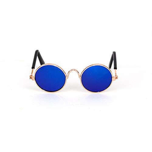 Gafas de sol de perro Gafas para mascotas Mini gato gafas de sol Peluche perro gafas de sol personalidad tendencia a prueba de viento gato Accesorios Para perros grandes y pequeños. ( Color : Yellow )