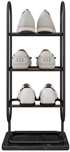 Ranuras de zapato ajustables Organizador Bastidore Zapato Rack Nordic Luz Lujo Hierro Zapato Rack Mármol Base Estante Estante Múltiple Layera Entrada Inicio Sala de estar Zapato Almacenamiento Organiz