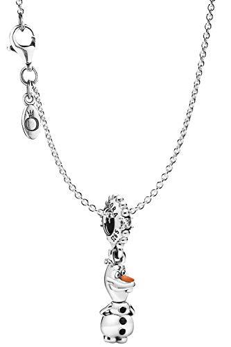 Pandora Halskette Disney Frozen Olaf eleganter Halsschmuck für Damen, wunderschönes Geschenk-Set für modische Frauen, 75644