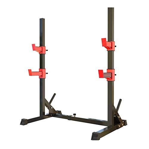 Cages de squat Support d'haltères réglable Développé couché d'haltérophilie Barre de Traction Équipement de Fitness Squat Gratuit à Domicile Forme Physique Sûr et Stable