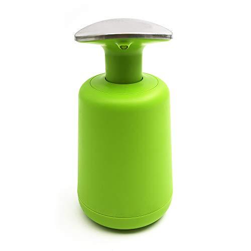 Fanghan – Edelstahl Big Button Seifenspender, Handseifenspender, Pumpflasche für ätherische Öle, Lotionen, Flüssigseifen, Shampoo Duschgel Handlotion Flasche für Küche und Bad grün