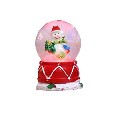 LIOOBO Weihnachts-Schneekugel mit Musik, Wasserkugel, Handwerk, Dekoration, beleuchtet, Weihnachten und Neujahr, Geschenk für Geschäft, Kinder, Haus zufällig