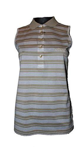 Chervo Polo de golf Asia pour femme, taille 38 (D), doré/blanc