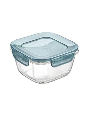 Bormioli Rocco Contenitore, Lunchbox Frigoverre in Vetro, Multicolor, 12 x 12 cm