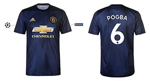 Manchester United Trikot Kinder 2018-2019 Third UCL - Pogba 6 (176)