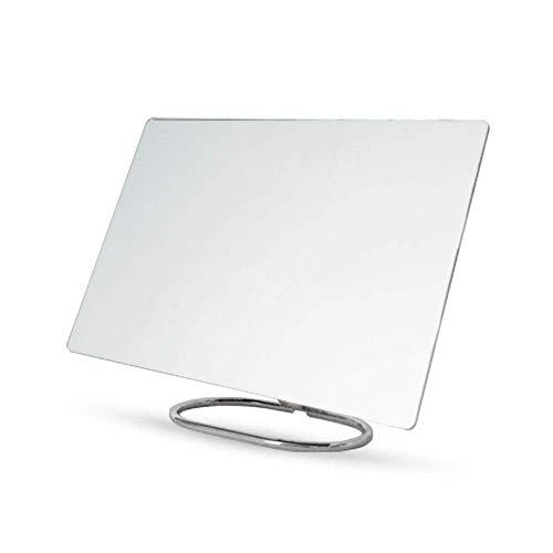 Maquillaje espejo, escritorio maquillaje espejo nuevo color sólido espejo espejo cuadrado espejo alto listado espejo de gran tamaño princesa espejo plegable tanidad espejo pared espejo espejo plata