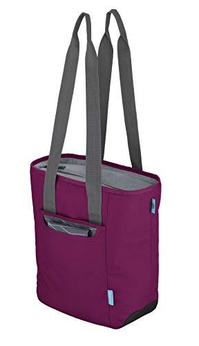 alfi Thermo-Kühltasche, isoBag klein 13 Liter - Isolierte Einkaufstasche aus Polyester, lila 34 x 13 x 35 cm - 2in1, Isoliertasche inkl. extra Tragetasche - 0007.242.811