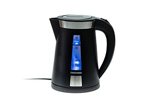 DAEWOO DEK-1364 Elektrischer Wasserkocher | 1.7L 2200W Wasserkocher | Schnurlose 360 Grad drehbare Basis | Auto Deckel
