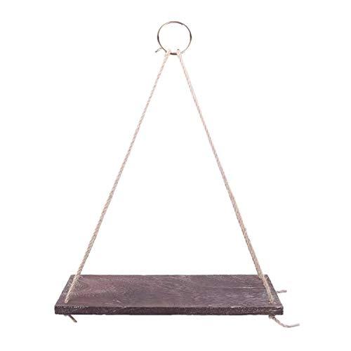 Estantería triangular de pared para colgar. Estantería flotante para niños y bebés, salón, oficina. Estantes de madera para almacenamiento y decoración de interior y exterior. Madera oscura, mediana