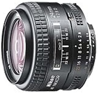 Nikon AF FX NIKKOR 24mm f/2.8D Fixed Zoom Lens with Auto Focus for Nikon DSLR Cameras - White Box (New)