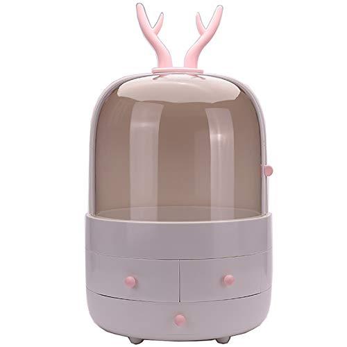 Estante Cosmético Caja de maquillaje de tipo cajón Organizador de escritorio Caja de almacenamiento de cosméticos para el hogar Tocador,Bbedroom,Cuarto de Baño ( Color : White , Size : 30.8x44.8cm )
