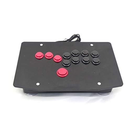 Flowing CHENZHEN RAC-J500B Alle Tasten Arcade Fight Stick Game Controller Hitbox Joystick Fit für PC USB CZ (Color : Red and Black)