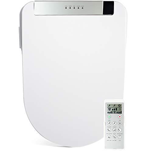 FOHEEL Toilettensitz, Bidet mit LCD-Display, kabellose Fernbedienung, gold/silber/rosé/schwarz, elektrisches Bidet mit LED-Licht und WC-Heizung 1800.00W, 220.00V