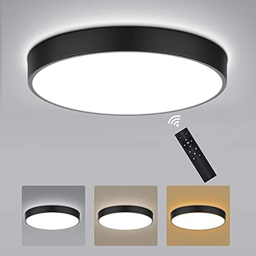 Kimjo Plafon LED Techo Regulable 27W-54W con Control Remoto, LED Lámpara de Techo Temperatura Regulable(2800K-6500K), Moderna Plafón LED Techo...