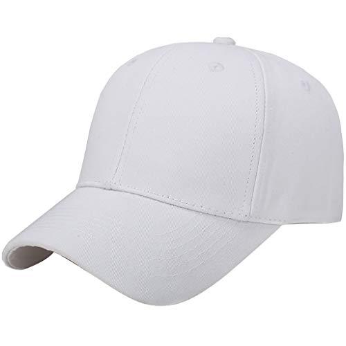 Gorra de Béisbol de Algodón con Sombra de Sol para Hombre y Mujer Sombrero Básico y Simple Unisex Ocio Sombrero al Aire Libre Deporte Hats Hip-Hop Yvelands