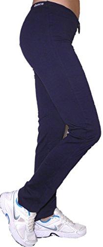 Pantajazz - Pantalones de cintura alta rectos para practicar deporte, fitness, danza, gimnasio, pilates, caminar, de algodón elástico para mujer y niña turquesa 48