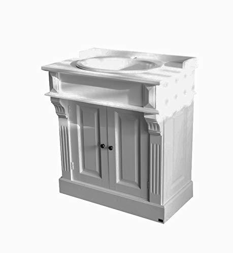 richhome Waschtisch weiß im Landhausstil, Badmöbel klassisch